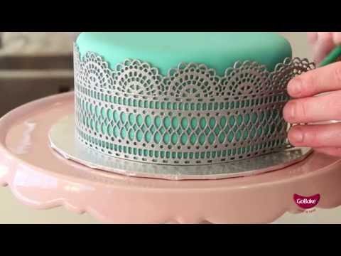 Make Edible Lace using Flexi Lace
